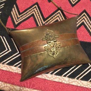 Handbags - Vintage Brass and Copper Handbag